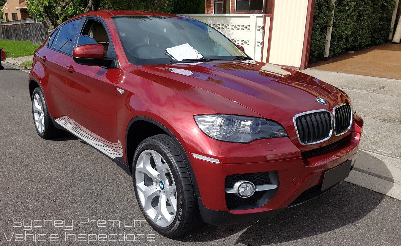 BMW X6 Vehicle Inspection