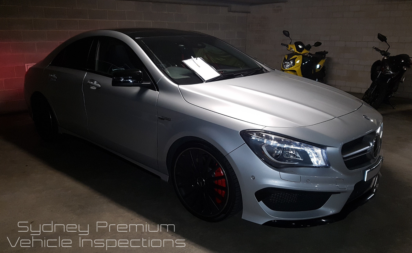 Mercedes CLA45 AMG Vehicle Inspection