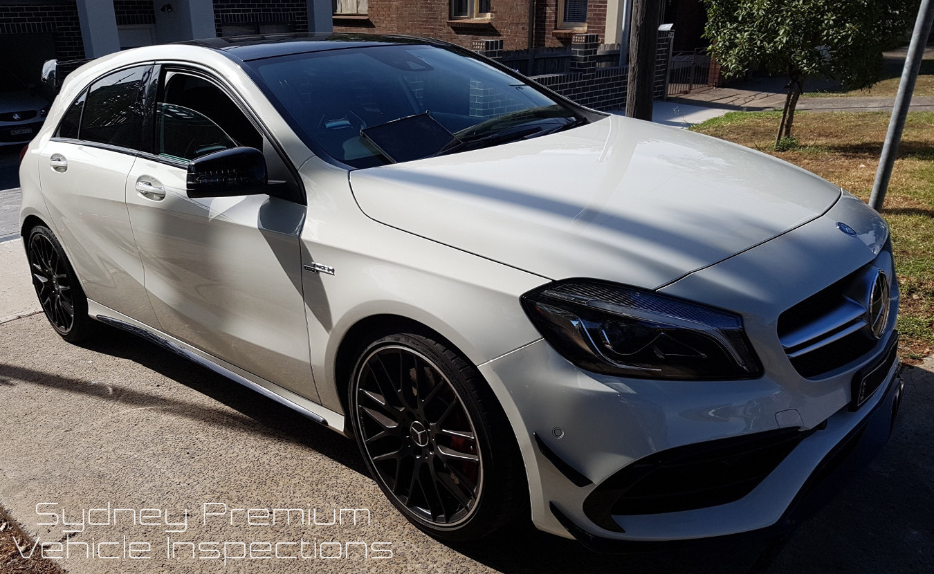 Mercedes A45 AMG Mobile Car Inspection
