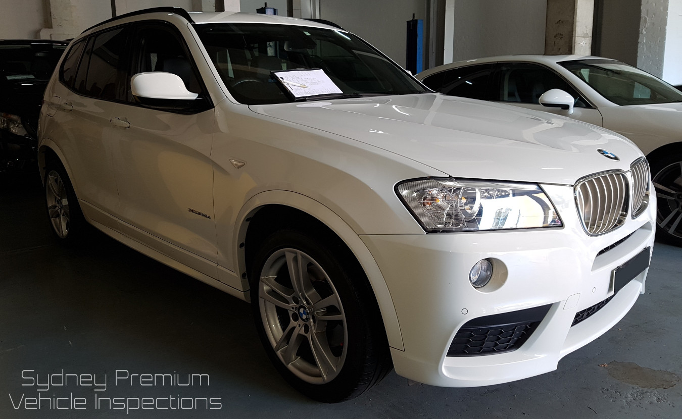 BMW X3 Mobile Car Inspection